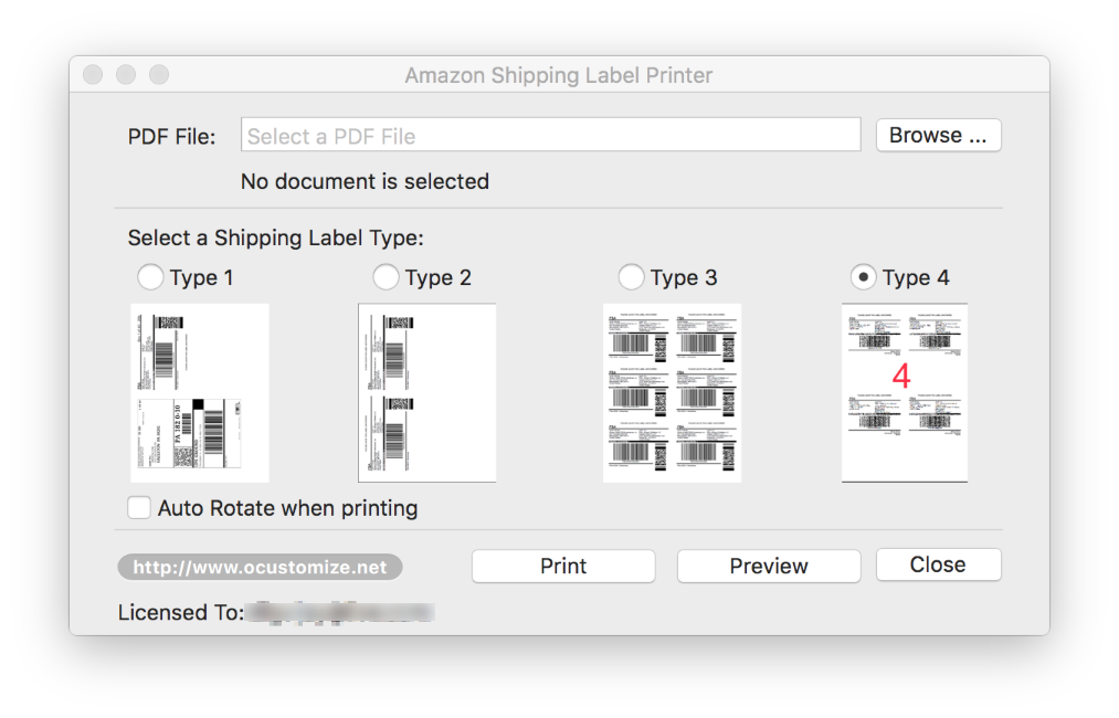 Amazon Shipping Label Printer for Mac