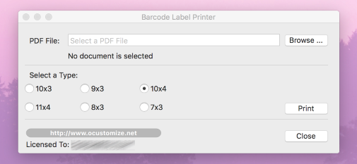 Barcode Label Printer for Mac